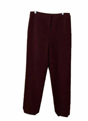 St. John Red Wine Casual Pants Size2