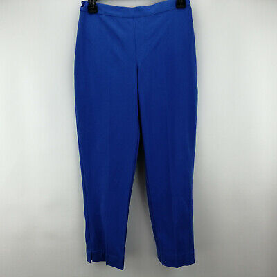 Isaac Mizrahi Live! 24/7 Stretch Ankle Pants French Blue Petite 6   A261791