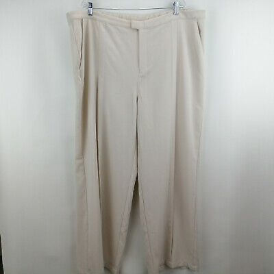 H by Halston Regular Stretch Suiting Wide Leg Pants Stone Plus 26   A301958
