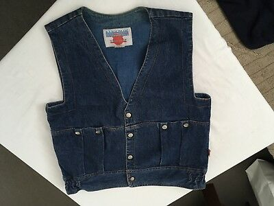 VINTAGE MENS or UNISEX DENIM VEST size M by JEANS ITALIA