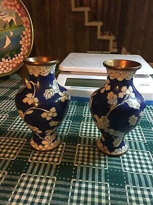 lare 19th or early 20th chinese cloisonne vase ,a pair