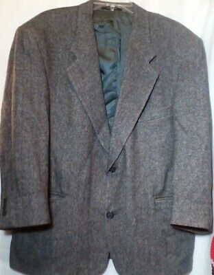Gianfranco Ruffini Italy Suit Jacket Camel Hair Blend Gray Herringbone Blazer 44