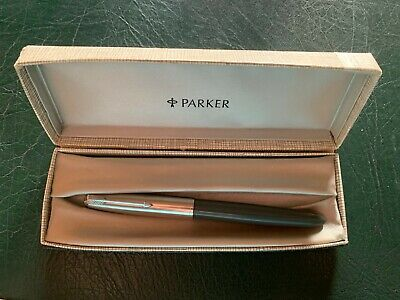 Parker 51 Aerometric - Boxed Navy Gray - Original - Fine Nib - Excellent Vtg Con