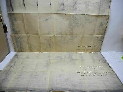 WWII Era Haciendas of E. E. Fernandini Junin Peru Topographic Blueprint Maps