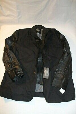 Vince Camuto Faux Leather Paneled Mens Jacket Size XL Brand New with Tag $250