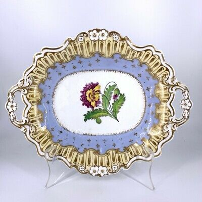 Ridgeway dish with gilding and a central poppy, pat. 2985 c.1835.