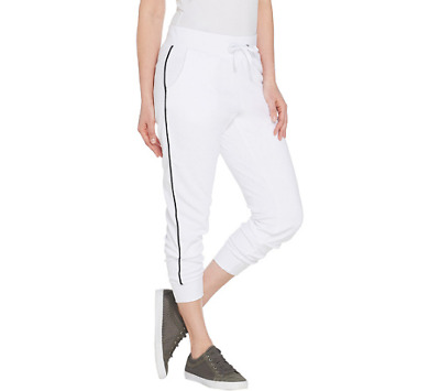 Tracy Anderson For G.I.L.I. Baby Terry Jogger Size XS White Color