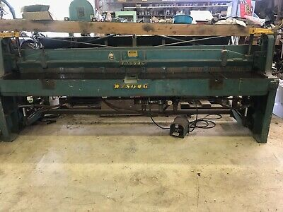 Instructions /& Parts Lists for Installation Manual Wysong MTH 60-350 Ton Shear