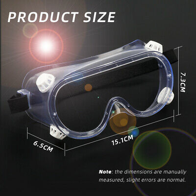 Safety Goggles Eye Protection Anti Fog Clear Vent Protective Glasses Lab Works