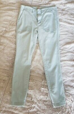 J. CREW Skinny Stretch Cargo Ankle Pants Women's Size 27 Light Blue Flat Front