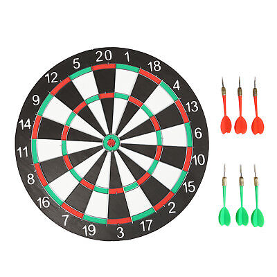 "UK NEW Large 15"" Dart Board Set Dartboard Family Party Game Fun With 6 Darts POP"
