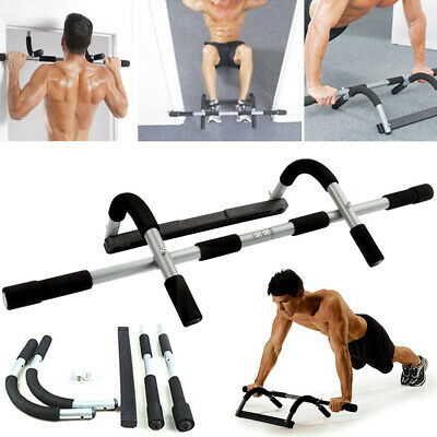 Door Pull Up Bars Gym Chin Up  Strength Exercise Fitness Bar Workout ACB#