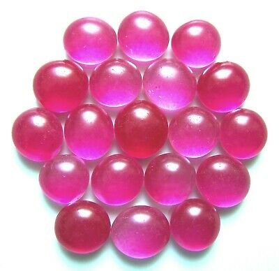 20 x Shades of Frosted Candy Pink Mosaic Pebbles Nugget Art Glass Gem Stones