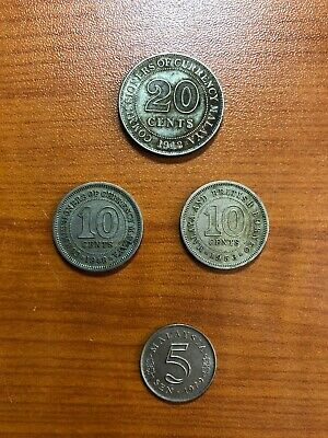 Small Group Of Coins From Malaya / Malaysia