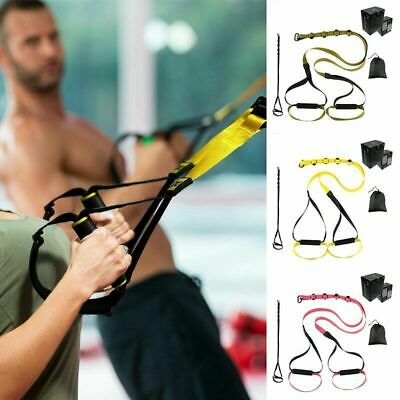 Home Gym Suspension Trainer Resistance Strength Training Straps Workout Kit UK