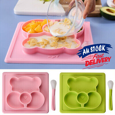 Plate Mat Baby Divided Bowl Silicone Suction Table Placemat Toddler Food Tray