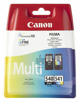 Kit 2 Cartuccia Originale Canon Nero+Colore Pg-540+Cl-541  Mx475 Mg3250 Mg3550