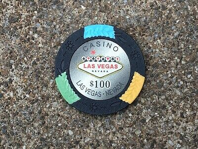 Vintage Collectable Casino Las Vegas Nevada $100 Gaming Gambling Chip ~Pre-Owned