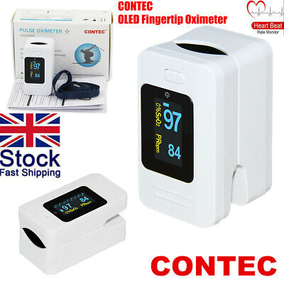 CONTEC CMS50D4 Fingertip pulse SpO2 Oximeter Blood Oxygen Heart Rate Monitor UK