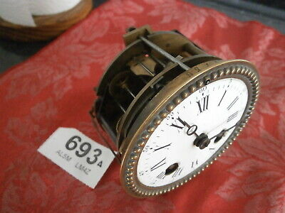 Clock MOVEMENT FRENCH, Moon Hands, Dial & Bezel spares parts mantle brass case