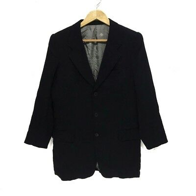 Vtg PURE CASHMERE 3 Button Blazer Made In ITALY Black Size 40 Sport Coat Jacket