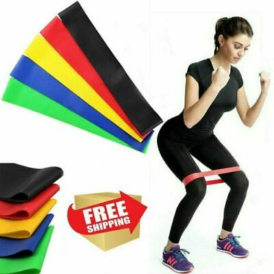 Resistance Bands Set of 5 Heavy Duty Fitness Exercise Bands Proworks Resistance