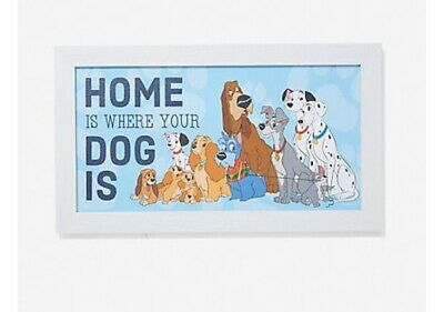 DISNEY DOGS HOME WOOD WALL ART Dog Lovers 101 Dalmations Lady And The Tramp