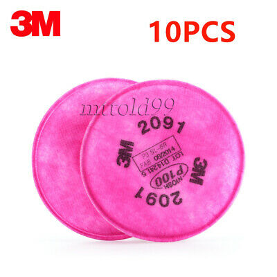 10Pcs=5 Packs 3M 2091 Particulate Filter P100 for 6000 7000 Series