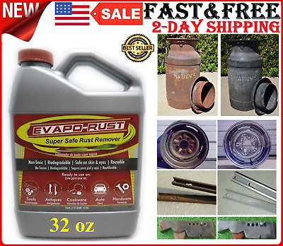 32 oz Super Safe Rust Remover for Car Auto Tools Antiques Cookware Non-Toxic