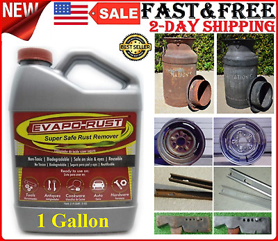 Super Safe Rust Remover for Car Auto Tools Antiques Cookware Non-Toxic 1 GALLON