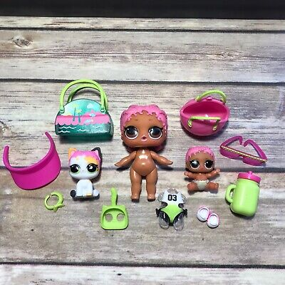 LOL Surprise Doll FAMILY SET SPIKE BABY Lil Spike PURRFECT SPIKE BIG LIL SIS PET