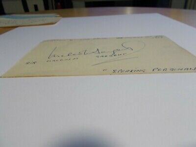 Signed autograph of  Fay Compton and reverse Malcolm Sargent.