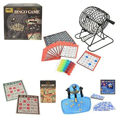 Bingo Game Family Fun Set Play Deluxe Metal Traditional Lotto Card Counter Toy