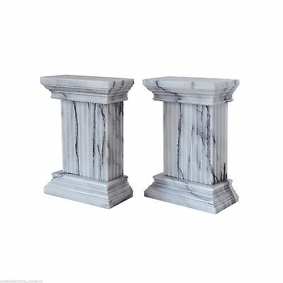 Column Cap Engraving White Marble Vintage Classic Home Design