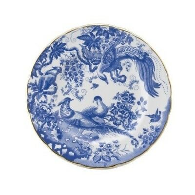"New Royal Crown Derby 1st Quality Blue Aves 8"" / 21cm Salad Side Plate"