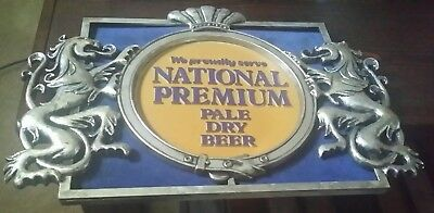 We Proudly Serve NATIONAL PREMIUM PALE DRY BEER Bar Sign Baltimore, MD