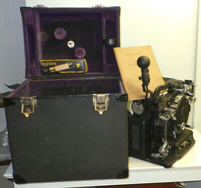 Vintage Kodascope Model B 16 mm Film Projector With Instructions & Case