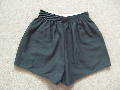 Black School PE Shorts Girls Boys Unisex 22-24 inch waist 100% cotton