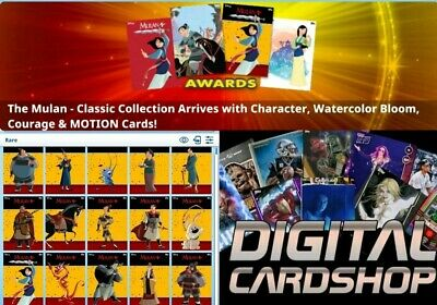 Topps Disney Collect Mulan Classic Collection Motion Character 14 Motion Cards