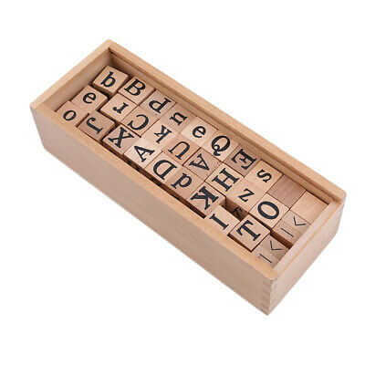 Word Kids Alphabet Cognitive Letter Block Newborn Game Learning DIY Wooden Toy