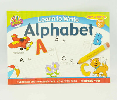A4 Kids Learn to Write Book Alphabet and Handwriting Practice Fun Childrens Book