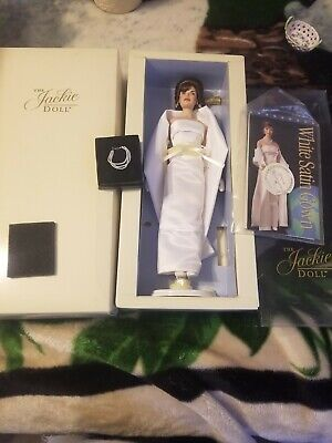 The White Satin Gown Jackie Doll By Franklin mint