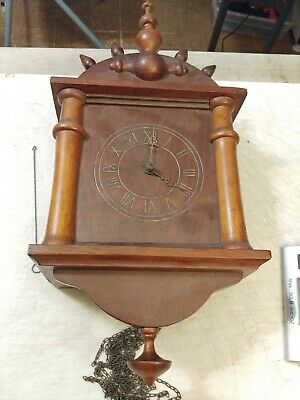 German Wag On The Wall / Cuckoo Clock With Wood Plate Movement