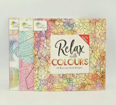 A4 Adult Calming Colouring Book Stress Relief Designs Patterns/Floral/Animal