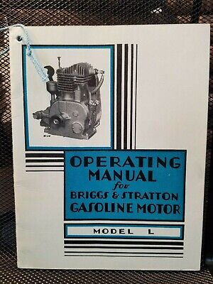 Briggs & Stratton Model L Operating Manual &Parts List llustrated 1930 Original