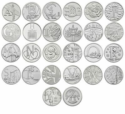 2019 A-Z Full Set Of Bunc 10P Coins From Royal Mint Brand New Sealed Bag