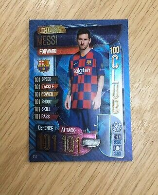 Topps Match Attax 19/20 Champions League Lionel Messi 331, 100 Club