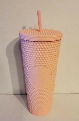 NEW STARBUCKS 2020 Matte Pink Studded Cold Cup Tumbler Spring Collection 24 Oz.