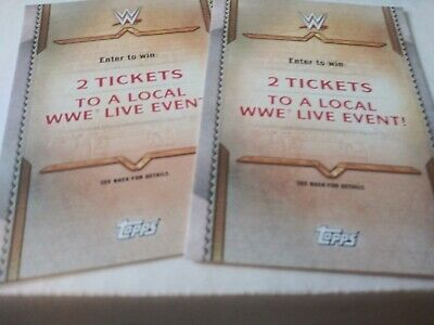TOPPS WWE ROAD TO Wrestlemania 2020 Enter CHANCE TO WIN 2 TICKETS TO WWE LIVE