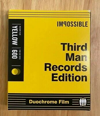 IMPOSSIBLE Film Third Man Records Edition Duochrome Yellow and Black Polaroid